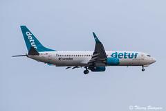 [CDG] Corendon Air Detur Boeing 737-8S3 _ TC-TJJ (thibou1) Tags: thierrybourgain cdg lfpg spotting aircraft airplane nikon d810 tamron sigma boeing boeing737 b737 b738 b737800 tctjj detur landing