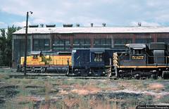 Variety in the 1970s (jamesbelmont) Tags: railway emd alco sd45 rsd12 sd24 provo utah carshop unionpacific utahrailway riogrande drgw diesel
