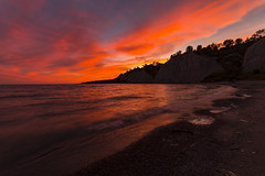 The Bluffs lV (Nicoli OZ Mathews) Tags: sunset scarboroughbluffs beautiful beach canada canoncanada explore exposure water red park toronto flickr clouds cloudscape canon samyang waves landscape lake light shadow art