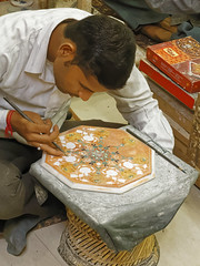 _MG_3140_DxO (carrolldeweese) Tags: agra india marble inlay worker