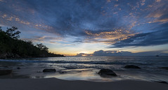 Anse Intendance / Пляж Анс Интенданс (dmilokt) Tags: природа nature пейзаж landscape море sea закат рассвет восход sunset sunrise dmilokt пляж beach песок sand пальма palm небо sky облако cloud nikon d850