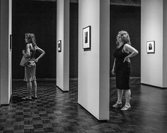 Met Breuer (John St John Photography) Tags: metbreuer metropolitanmuseumofart dianearbus inthebeginning photographyexhibition streetphotography candidphotography women gesture gestures bw blackandwhite blackwhite blackwhitephotos johnstjohnphotography