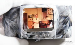 "Found Foto - ""In the Lab"" (http://www.yashicasailorboy.com) Tags: lab laboratory scientist slide 35mm viewer va foundfilm"