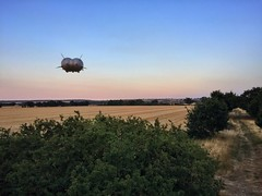 Maiden Flight of Airlander, Cardington (jurassicjay) Tags: testflight aircraft prototype technology aerospace airship cardington bedford bedfordshire southern south english england britishisles british greatbritain gb unitedkingdom uk flight airlander10 hybridairvehicles hav airlander
