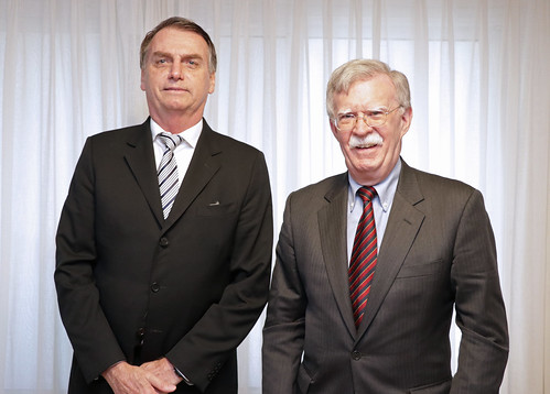 Bolsonaro and Bolton meeting
