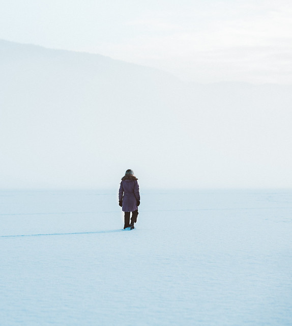 Walking on the frozen lake