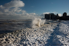 January 2019 (Bekki Y. Photography) Tags: lakemichigan ice winter frozen snow greatlakes chicago beach cold skyline cityscape