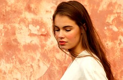 The young innocence. (irio.jyske) Tags: lady woman female young girl miss mrs nice ¨beauty beautiful photographer photograph photos pic wall oldtown colors autumn hair longhair brunette cityphotograph cityscape cityphotographer cityscapes citypic city dreams dreaming slips