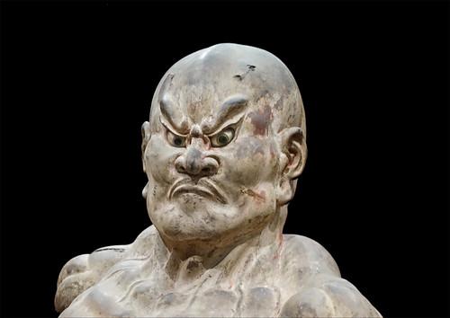 Kongo Rikishi Ungyo du temple Kofukuji de Nara (musée Guimet, Paris)