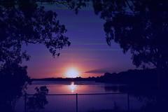 Nightfall (Dreaming of the Sea) Tags: sliderssunday gimp sunset bundaberg burnettriver nikond7200 tamronsp2470mmf28divcusd queensland australia gumtree water reflections fence clouds hss