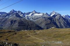 D20085.  From the Gornergratbahn. (Ron Fisher) Tags: schweiz suisse svizzera switzerland kantonwallis valais cantonvallese europa europe zermatt mountain snow glacier gletcher diealpen thealps swissalps alpessuisses schweizeralpen alpisvizzere sony sonyrx100iii sonyrx100m3 compactcamera