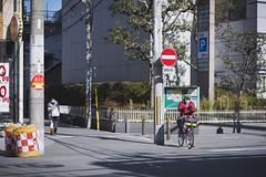 life in osaka (Flutechill) Tags: bicycle cycling street people editorial men urbanscene outdoors citylife sport women ruhr city sign essen day business traffic japanese japaneseculture osaka osakaprefecture osakacity kansai life