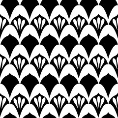 ArtDecoBlackWhite_Seaml_Stock (Dannys Remake Remodel) Tags: pattern seamless texture abstract wallpaper design illustration white black ornament art decoration retro vintage decorative fabric graphic textile color geometric decor artdeco homedecor modern chic fancy elegant repeatpattern damask antique vector old paper leaf fan