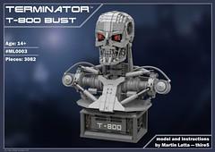 T-800 Terminator Bust INSTRUCTIONS (thire5) Tags: terminator t800 arnold schwarzenegger power functions bust sculpture toy kostkyorg