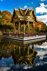 29865694244_98d285bfc1_o (stacheltierchen) Tags: munich autumn westpark pagode herbst reflection spiegelung spiegelungimwasser amazing color blue tempel relax religion buddha flickr explore interesting water see park bunt germany europe nikon d3300 münchen bavaria