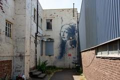 Banksy - Girl with the Pierced Eardrum (virtual-stu) Tags: banksy bristol graffiti streetart art