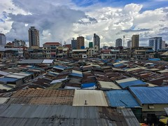Phnom penh market (joannab_photos) Tags: blue rooftop phnompenh cambodia market colors