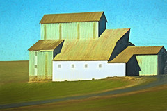 2019-01-13 Barn Art (Mary Wardell) Tags: barn art topaz ontheroad fromthecar oregon canon80d colors colorful