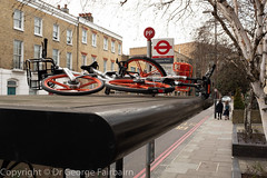 One or two for the road (georgeupstairs) Tags: abandoned bike busstop london mobike roof tfl
