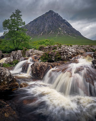 Buachaille close up (deceptiv3) Tags: olympus longexposure glencoe travel waterfall landscape buachaille scotland
