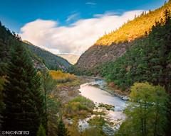 69 Seconds at Argo (Nick Kanta) Tags: 10stop autumn clouds color d90 le longexposure nikon oregon outdoorphotography river rogueriver sky tamron1750 trees water