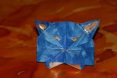 Cat (Alex Murzin) (De Rode Olifant) Tags: origami paper paperart alexmurzin marjansmeijsters juffrouwwaaromisuwpoeszoblauw harrybannink jazusterneezuster anniemgschmidt cat origamicat catface origamicatface diagrams