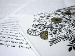 flowers and research (jojoannabanana) Tags: 3652018 bokeh canonpowershot closeup details floral flowers journal macro sd1300 text