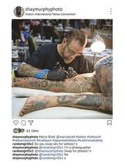 Instattoo: Marco at Dublin Tattoo Convention (shaymurphy) Tags: tattooing tattooist tattooistatwork dublin tattoo convention tattooed instagram marco bratt