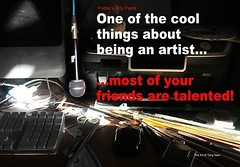 Friday's Arty Facts: One of the cool things about being an artist...most of your friends are talented... true dat! #artists #talentedartists #talentedfriends #friendswithtalent #artifacts #creativepeople (Tony Nero) Tags: artoftonynero tony nero art peterorough cambridgeshire creative out about craft paintings