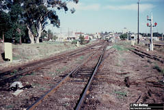 3790 Claremont Sidings Points Removal 8 June 1983 (RailWA) Tags: railwa philmelling westrail 1983 claremont railway