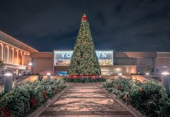 Christmas Tree at the Mall (ABPhotoArt-) Tags: lights holidays nightphotography tree mall themes christmastree architecture nightshot xmas christmas winter night