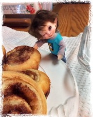 What do you do when it's -30 degrees out...bake of course! (Jonquil O) Tags: realpuki fairyland bjd papilio keebler