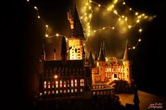 Hogwarts with lights 2 (psychosteve-2) Tags: hogwarts castle harry potter lego bricks architecture tower building