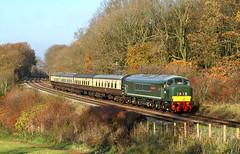 Peak In Autumn Colours. (Neil Harvey 156) Tags: railway d123 leicestershirederbyshireyeomanry kinchleylane greatcentralrailway greatcentralrailwaylasthurrahgala2018 class45 brgreen peak