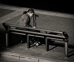 Support (Bill Morgan) Tags: olympus penf 40150 bw jpeg luminar3 mitaka tokyo street