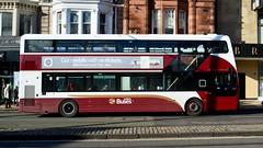 Lothian Wrightbus Gemini 3 (Travis Pictures) Tags: bus buses edinburgh transportforedinburgh lothian lothianbuses princesstreet city citycentre transport publictransport scotland britain uk nikon d5200 photoshop outdoors outside sunny wrightbus doubledecker doubledeck red white