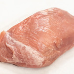 Isolated raw pork meat above white background thumbnail