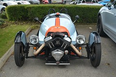 Morgan 3 Wheeler Gulf Edition (CA Photography2012) Tags: mog14d morgan 3 wheeler gulf edition sportscar british icon 3wheeler three tricycle classic special ca photography automotive exotic car spotting automibile vehicle carspotting jct600porschecentreleeds yorkshiresupercarclub