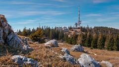 Schöckl 1 (Bikerwolferl) Tags: nature mountain landscape scenics outdoors tree sky mountainpeak bench beautyinnature nopeople woodmaterial natur berg landschaft landschaftspanorama imfreien berggipfel