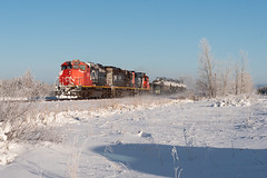MRF at Payne (shawn_christie1970) Tags: meadowlands minnesota unitedstates us payne railroad mrf canadianpacificrailway winter snow cn5337 cn6260 emd sd402w sd403