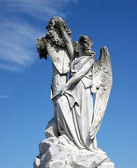 Angel Of New Orleans (Bill G Moore) Tags: statue angel grave cemetery new orleans canon louisiana sky clouds billmoore