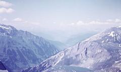 Valley View (zeesstof) Tags: geo:lat=4708092303 geo:lon=1284245895 geotagged zeesstofsmom kodachrome film 35mmslidefilm mamiya 1969 summerholiday mountains alps austrianalps triptothegrossglockner snow snowinsummer