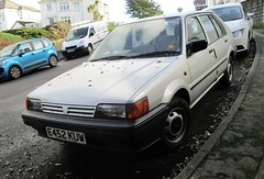 1987 Nissan Sunny LX (occama) Tags: e452kuw nissan sunny lx 1987 white old car cornwall uk japanese