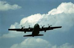 Berlin Flughafen Tempelhof  1988 US Air Force C-130 (rieblinga) Tags: berlin vorflug flughafen tempelhof thf 1988 c130 hercules wolken analog revue ac 3 trg 100 c41