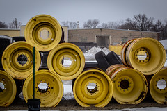 Round and Round (Phil Roeder) Tags: desmoines iowa canon6d canonef70200mmf4lusm snow fog wheel round circle