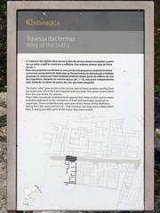 Yacimiento. Callejón de las Termas (Conimbriga, Portugal) (Juan Alcor) Tags: yacimiento callejon travessa termas placa ruinas romanas romano portugal conimbriga