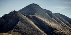 Titov vrv - Tito's peak (Gadjowsky) Tags: sky shara macedonia mountain mountains nikon nature nikond5100 natural landscape landschaft autumn hiking herbst contrast structure ambient atmosphere makedonija maceodnia d5100 detail pano panorama panoramic photomerge peak