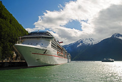 Carnival Legend. Skagway, Alaska. (Infinity & Beyond Photography: Kev Cook) Tags: carnival legend cruiseship cruiselines ship ocean liner boat bay water mountains skagway alaska