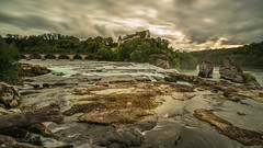 evening at the Rhine Falls 3.)1810-483 (dironzafrancesco) Tags: fluss landscape landschaft nature wasser sony imfreien langzeitbelichtung sonyfe1635mmf4zaoss natur river sonyilce7r2 longtimeexposure clouds waterfall wasserfall ndfilter lightroomcc himmel sky outdoor haida felsen wolken water neuhausenamrheinfall kantonschaffhausen schweiz ch
