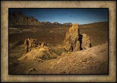 Canadas de Teide(Tenerife,Spain) (williamwalton001) Tags: pentaxart nationalpark spain volcanicrock sky stone colourimage borders framed fineart texture rockpaper